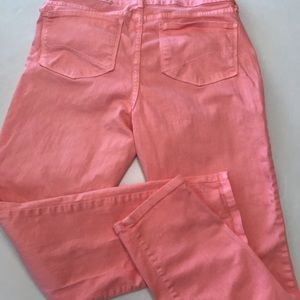 NYDJ orange sherbet color Clarissa skinny jeans